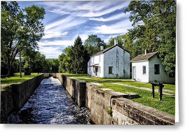 Kingston Digital Greeting Cards - Delaware Canal Kingston New Jersey Greeting Card by Bill Cannon