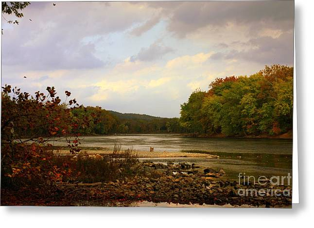 Ledge Greeting Cards - Delaware River Greeting Card by Marcia Lee Jones