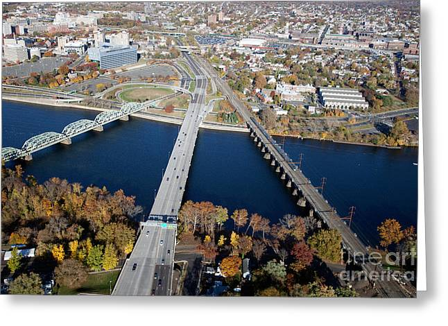Toll House Greeting Cards - Delaware River near Trenton New Jersey Greeting Card by Bill Cobb