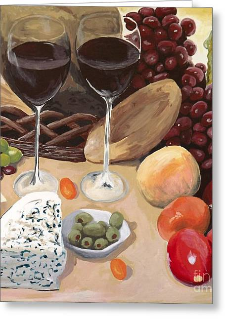 Cornucopia Paintings Greeting Cards - Delectible Greeting Card by Robyn Allison