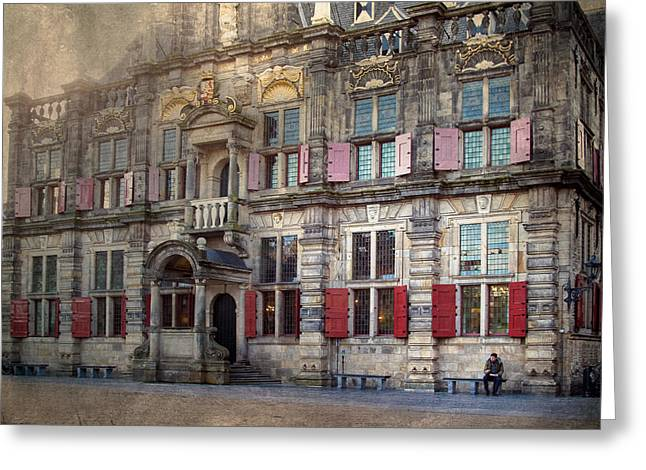 Delft Greeting Cards - Delft Town Hall Greeting Card by Constance Fein Harding
