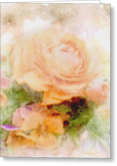 Zelma Hensel Greeting Cards - Delicate and Soft Floral Greeting Card by Zelma Hensel