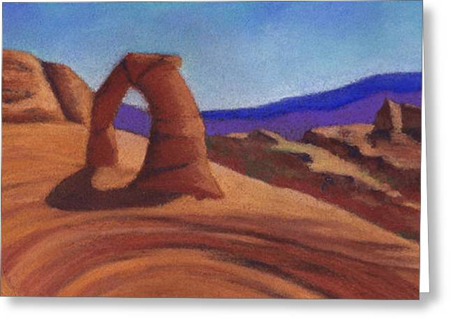 Arch Pastels Greeting Cards - Delicate Arch Greeting Card by Anne Katzeff