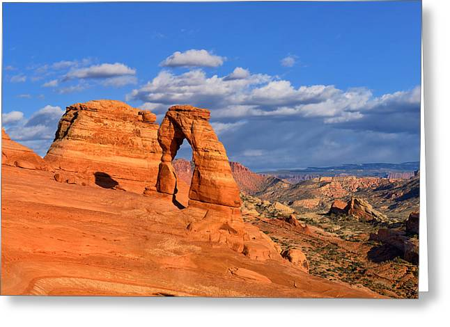 Utah Greeting Cards - Delicate Arch Landscape Greeting Card by Greg Norrell