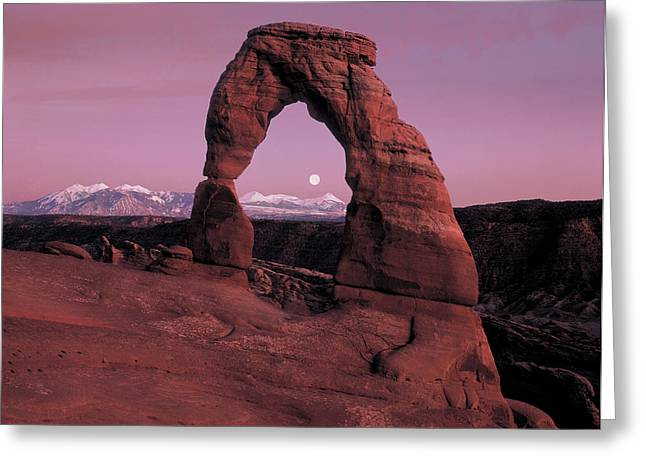 Delicate Arch Greeting Card by Leland D Howard