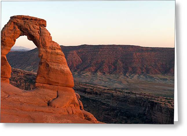Nicholas Greeting Cards - Delicate Arch Panorama Greeting Card by Nicholas Blackwell