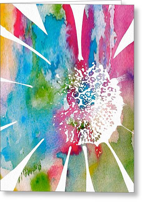 Subtle Colors Mixed Media Greeting Cards - Delicate Daisy Watercolor Greeting Card by Dan Sproul
