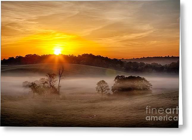 Virginia Farm Greeting Cards - Delicate Dawn Greeting Card by Dan Carmichael