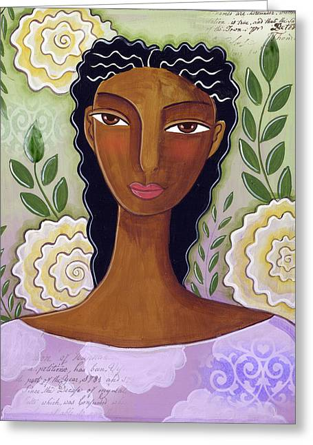 African-american Mixed Media Greeting Cards - Delicate Greeting Card by Elaine Jackson