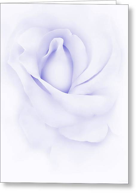 Abstract Rose Abstract Greeting Cards - Delicate Purple Rose Flower Greeting Card by Jennie Marie Schell