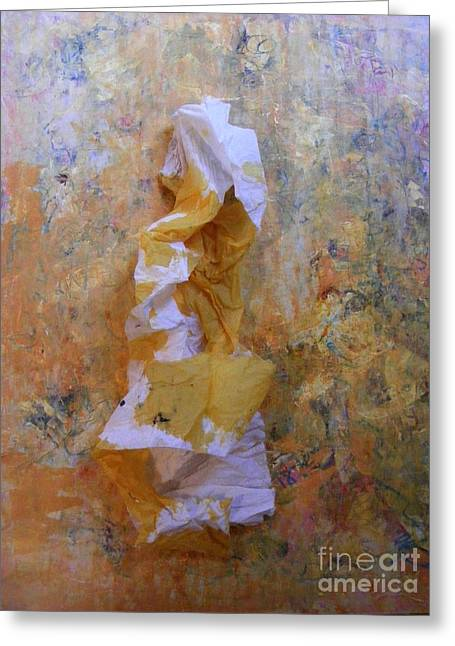 Yellows Sculptures Greeting Cards - Delicate Soul Greeting Card by Nancy Kane Chapman