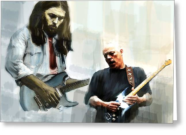 Best Sellers -  - Main Street Greeting Cards - Delicate Sound of Brilliance David Gilmour Greeting Card by Iconic Images Art Gallery David Pucciarelli