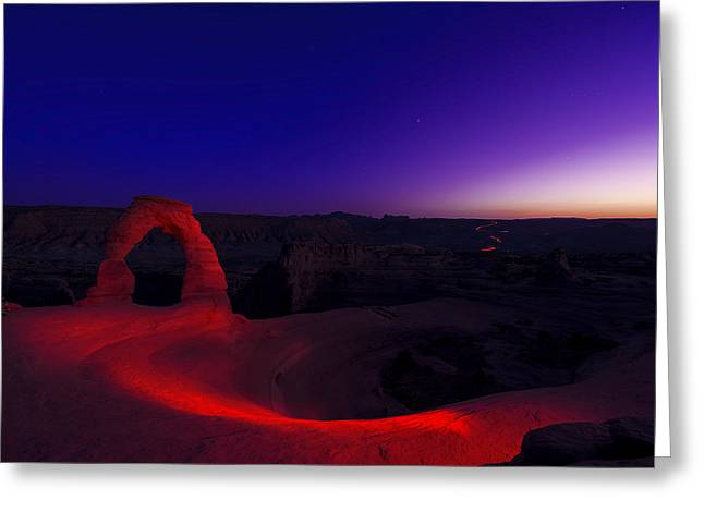 Southern Utah Greeting Cards - Delicate Twilight Greeting Card by Dustin  LeFevre