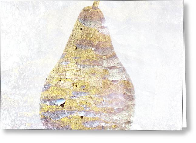 Brown Pears Greeting Cards - Delicately Colored Pear Greeting Card by Carol Leigh