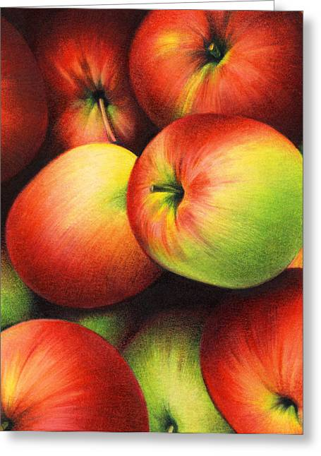Yellow Apples Greeting Cards - Delicious Apples Greeting Card by Natasha Denger