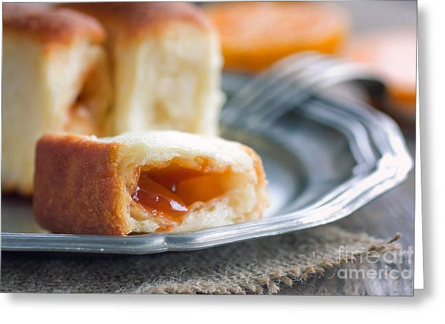 Strawberry Jam Greeting Cards - Delicious jam rolls Greeting Card by Mythja  Photography