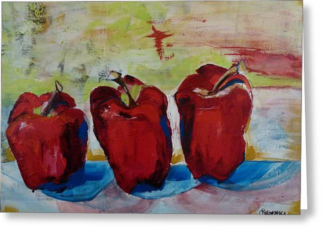 Delicious Reds Greeting Card by Suzanne Willis