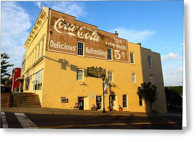 Coca-cola Mural Greeting Cards - Delicious Refreshing Greeting Card by Joseph C Hinson Photography
