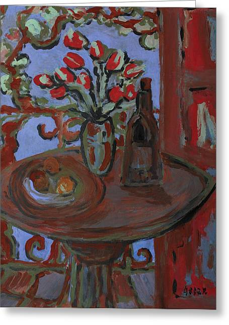 Interior Still Life Paintings Greeting Cards - Delight  Greeting Card by Oscar Penalber