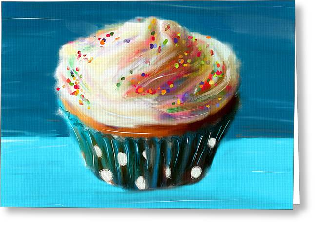 Cupcakes Greeting Cards - Delightful Sprinkles Greeting Card by Lourry Legarde