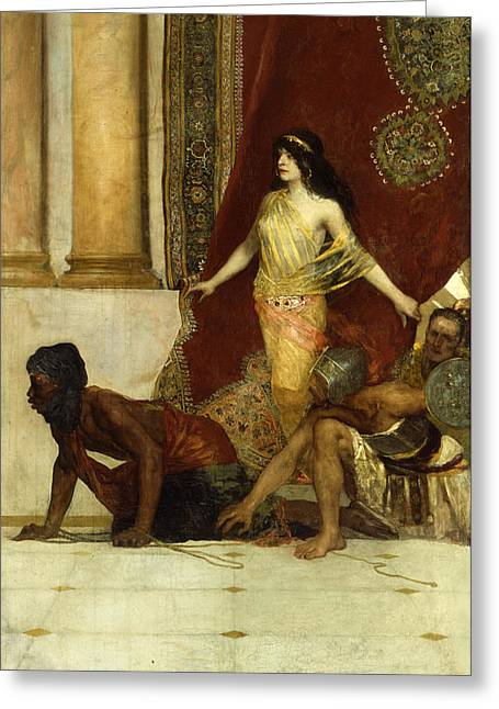 Seductress Greeting Cards - Delilah and the Philistines Greeting Card by Jean Joseph Benjamin Constant