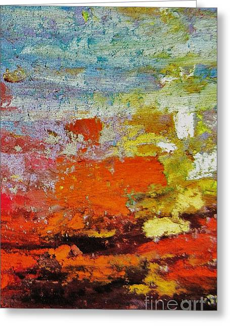 Acrylic Pastels Greeting Cards - Delirium Greeting Card by John Clark
