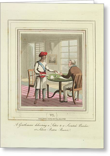 Delivering A Letter Greeting Card by British Library