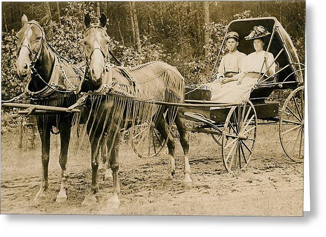 Delivering The Mail 1907 Greeting Card by Floyd Russell