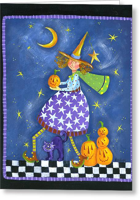 Checker Pastels Greeting Cards - Delivering the punkins Greeting Card by Pat Olson