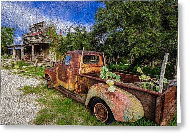 Delivery At The Stocktank Greeting Card by Jeffrey W Spencer