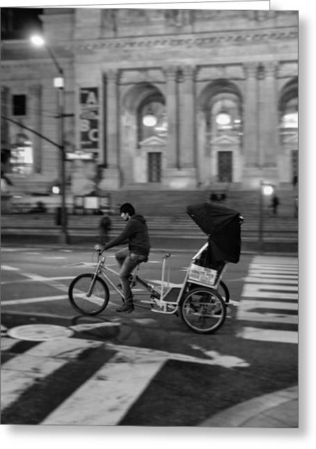 Crosswalk Greeting Cards - Delivery In New York City Greeting Card by Dan Sproul