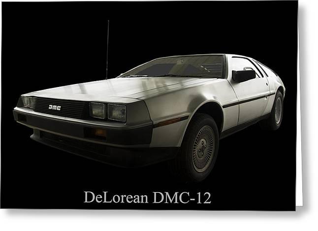 Dmc-12 Greeting Cards - DeLorean DMC 12 Greeting Card by Chris Flees