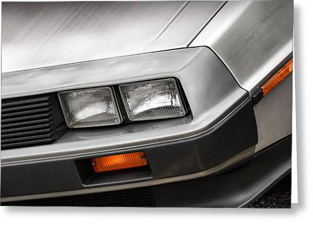 Dr J Greeting Cards - DeLorean DMC-12 Greeting Card by Gordon Dean II