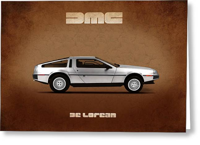 Back To The Future Greeting Cards - DeLorean DMC-12 Greeting Card by Mark Rogan