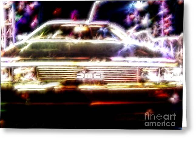 1955 Movies Greeting Cards - Delorean Fantasy Greeting Card by Renee Trenholm