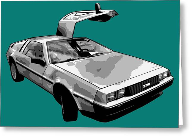 Delorean Pop Greeting Card by Lance Vaughn