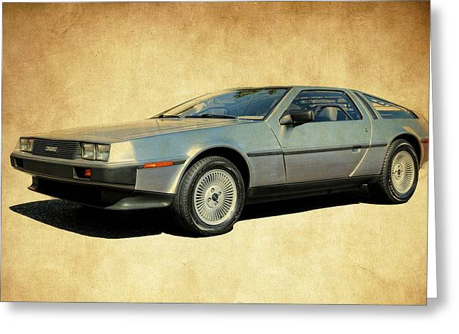Delorean  Greeting Card by Steve McKinzie