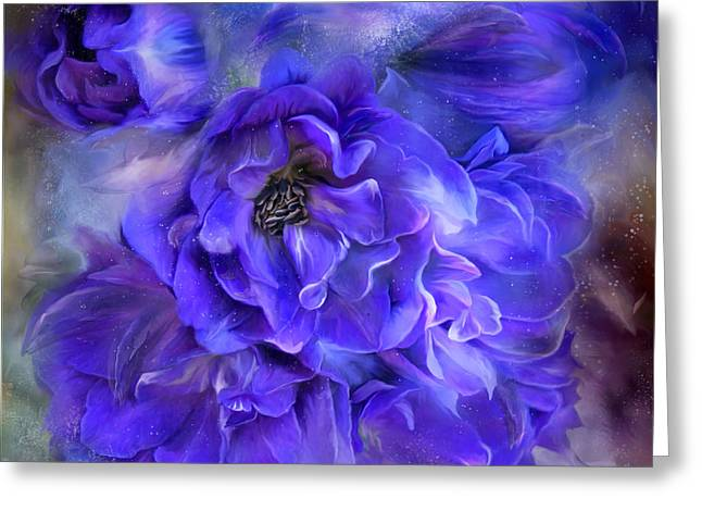 Delphinium Greeting Cards - Delphinium Sea - A Dolphin Mystery Greeting Card by Carol Cavalaris