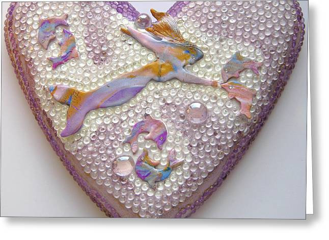Heart Reliefs Greeting Cards - Delphinixien 2 Greeting Card by Heidi Sieber