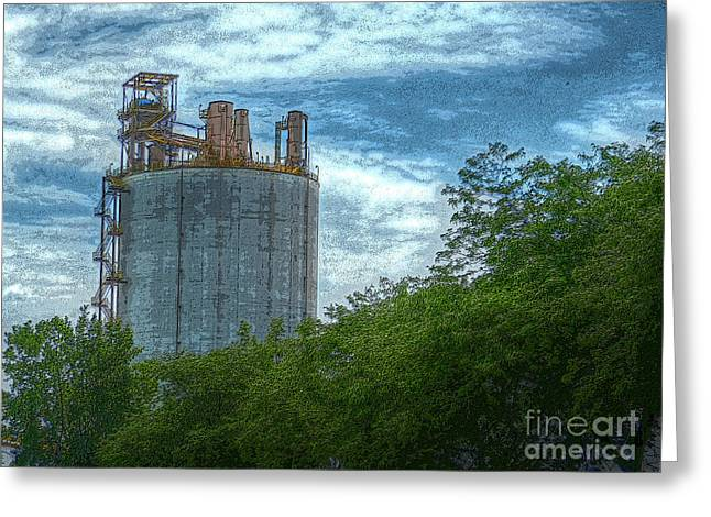 Delray Tower Greeting Card by MJ Olsen