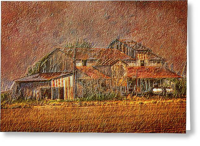 Best Sellers -  - Textile Photographs Greeting Cards - Delta Cotton Barn Greeting Card by Barry Jones
