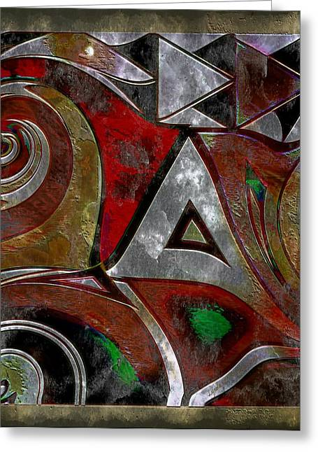 Lynda Payton Greeting Cards - Delta Inspired Abstract Greeting Card by Lynda Payton