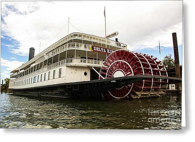 Paddle Wheel Greeting Cards - Delta King Greeting Card by Cheryl Young