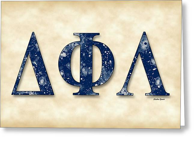 Greek Butterflies Greeting Cards - Delta Phi Lambda - Parchment Greeting Card by Stephen Younts