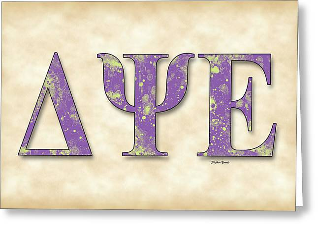 University Of Alabama Digital Greeting Cards - Delta Psi Epsilon - Parchment Greeting Card by Stephen Younts