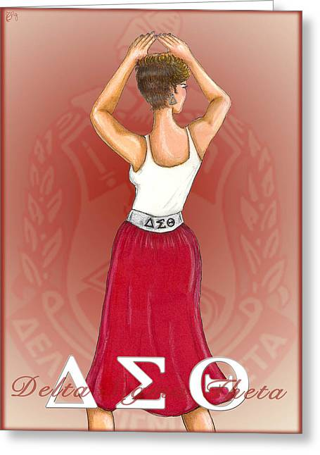 Red Skirt Greeting Cards - Delta Sigma Theta Greeting Card by BFly Designs