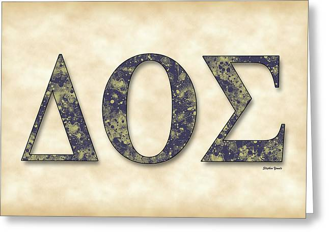 Theta Greeting Cards - Delta Theta Sigma - Parchment Greeting Card by Stephen Younts