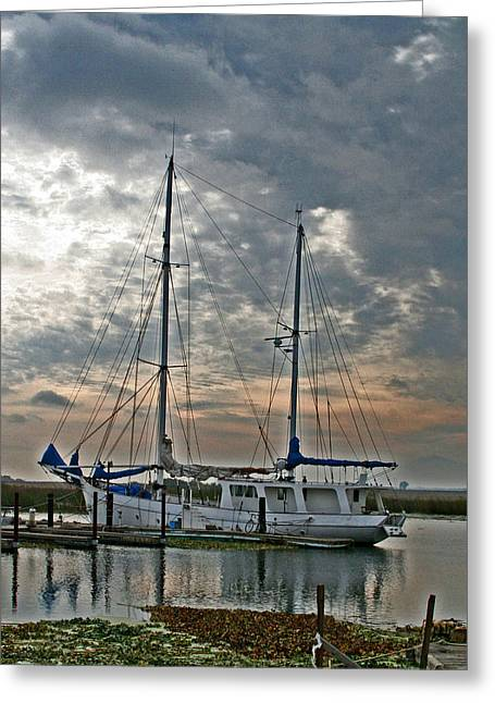 Sailboat Photos Greeting Cards - Delta View Greeting Card by Joseph Coulombe