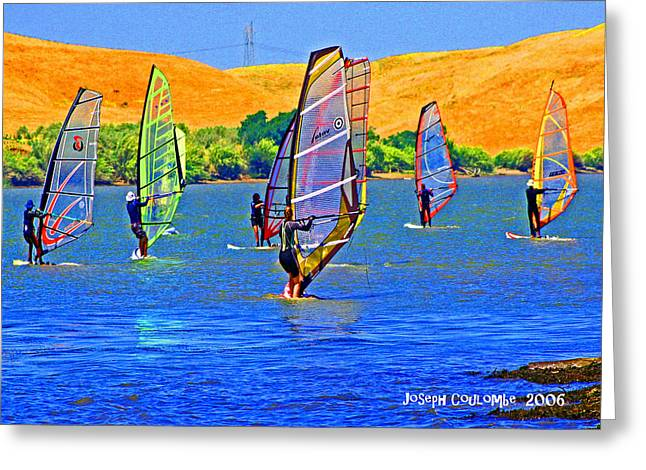 Wind Surfing Art Greeting Cards - Delta Water Wings Greeting Card by Joseph Coulombe