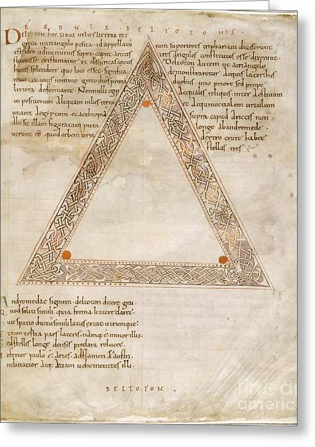 1100s Greeting Cards - Deltoton Constellation, 11th Century Greeting Card by British Library